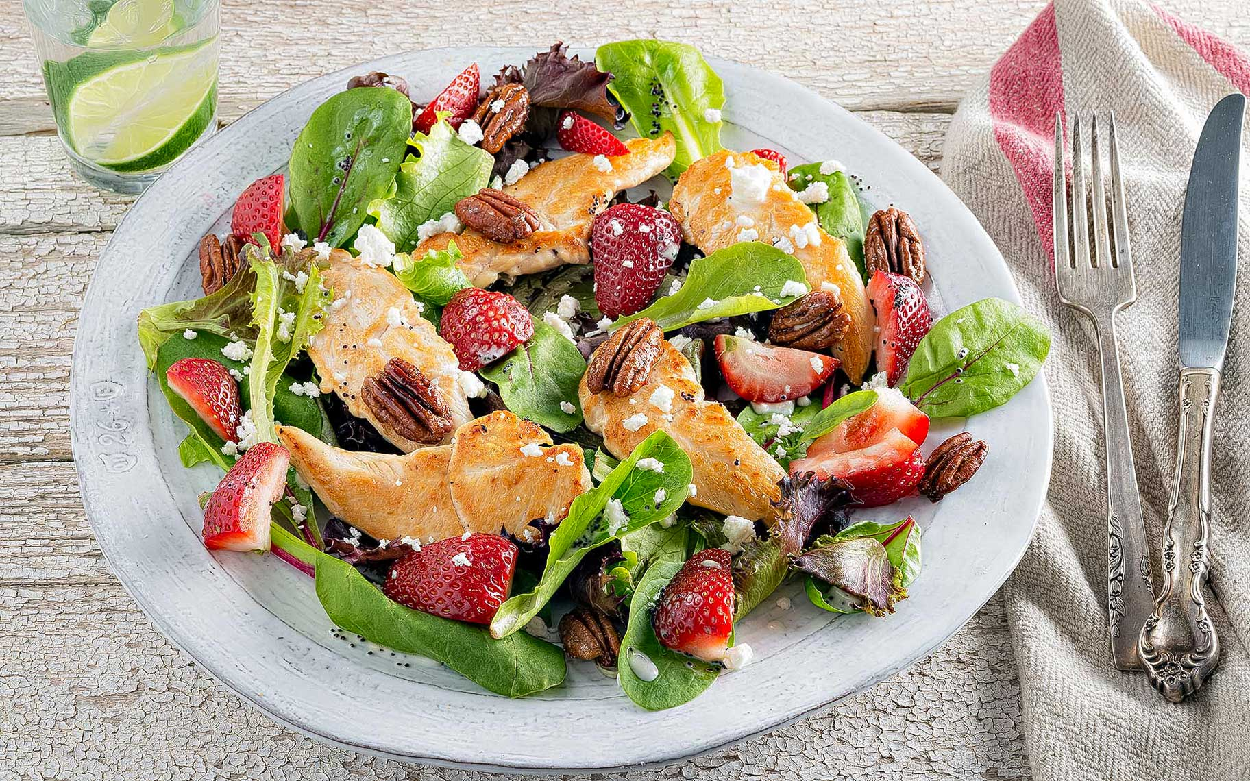 Strawberry-and-chicken-salad